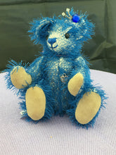 Load image into Gallery viewer, ' Blu' Cream Mohair with Blue thread Collectors Bear