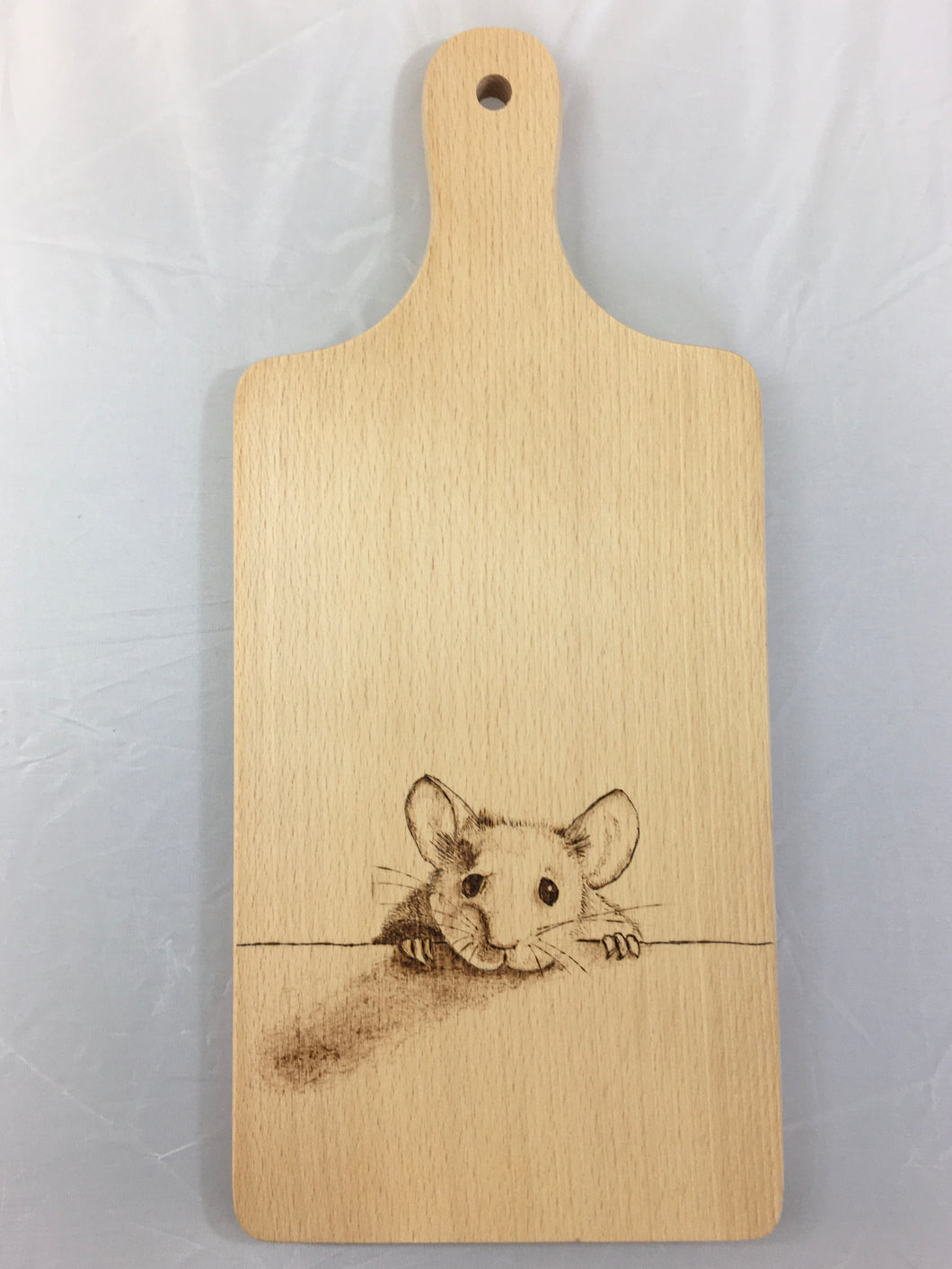 Chopping Board with Mouse Pyrography