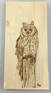 Cheese Board with Owl Design