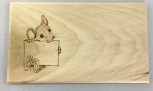 Cheeseboard with Mouse Name Holder