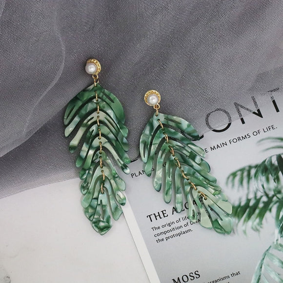 Go Green - Leaf Earrings