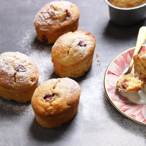 Rhubarb & White Chocolate Friands