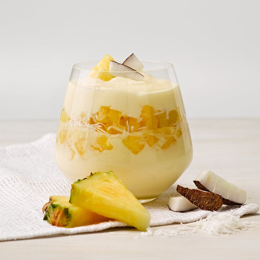 Greek Style Pineapple with Coconut Bits