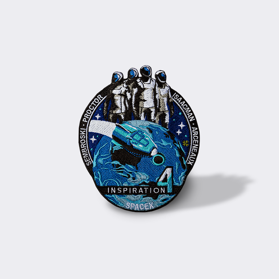 SpaceX Inspiration20 Mission Patch – SpaceX Store