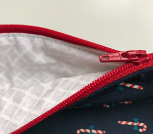 Small Candy Cane Cross Stitch tote