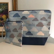 Load image into Gallery viewer, Medium Clouds Wedgetote with matching Notions Pouch