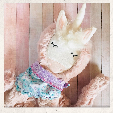 Magical Unicorn Slumberkins Inspired Doll Bandana