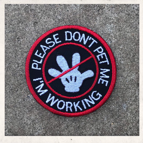 Magical Mickey Glove Hand - Do Not Pet ~ Working/Service Dog Patch