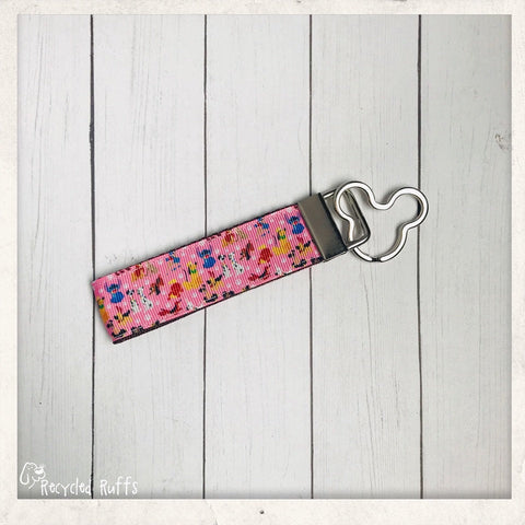 Disney Dogs Dooney & Bourke Inspired PINK Key Fob