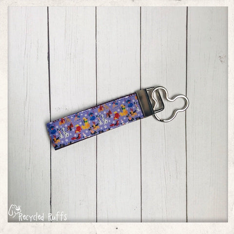 Disney Dogs Dooney & Bourke Inspired PURPLE Key Fob