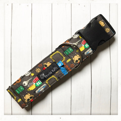 Friends Fabric Dog Collar