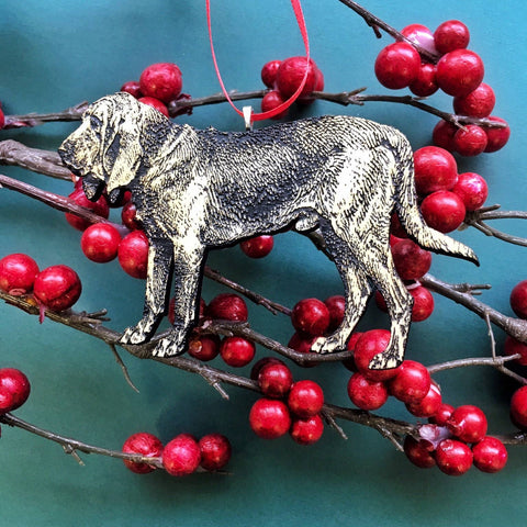 Holiday Bloodhound Christmas Ornament & Magnet