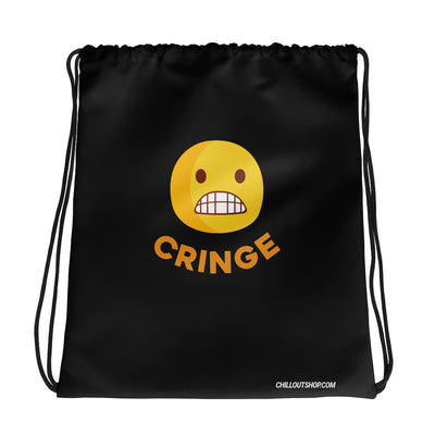 The Original Cringe Emoji Unisex Drawstring Bag - chilloutshop.com
