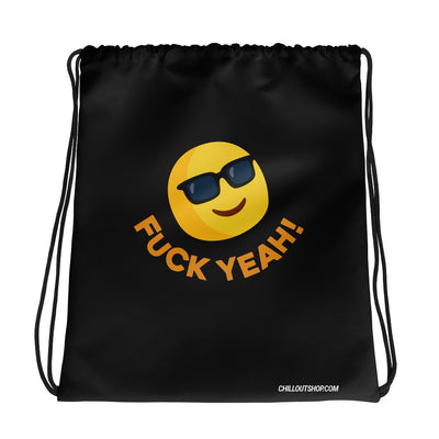 The Original Fuck Yeah Emoji Unisex Drawstring Bag, Drawstring Bags, chilloutshop.com