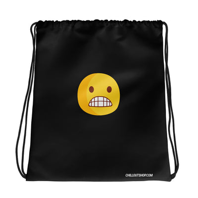 The Original Grimace Emoji Unisex Drawstring Bag - chilloutshop.com