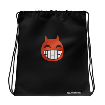 The Original Devil Smile Emoji Unisex Drawstring Bag - chilloutshop.com