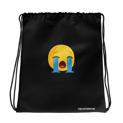 The Original Loud Cry Emoji Unisex Drawstring Bag, Drawstring Bags, chilloutshop.com