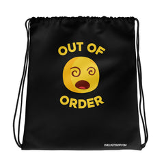 The Original Out of Order Emoji Unisex Drawstring Bag, Drawstring Bags, chilloutshop.com
