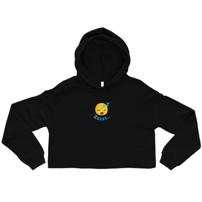 The Original Zzzzz Emoji Women Crop Hoodie - chilloutshop.com