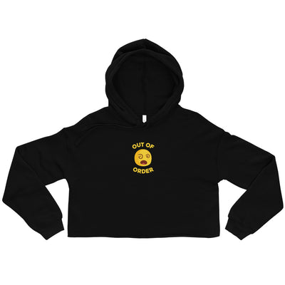 The Original Out of Order Emoji Women Crop Hoodie - chilloutshop.com