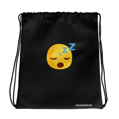The Original Sleepy Emoji Unisex Drawstring Bag, Drawstring Bags, chilloutshop.com