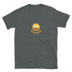 The Original Wooow Emoji Unisex Short-Sleeve T-Shirt, T-Shirts, chilloutshop.com