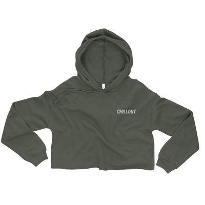 The Original Chillout Embroidered Women Crop Hoodie - chilloutshop.com