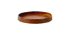 Wooden round bowl Natural wood
