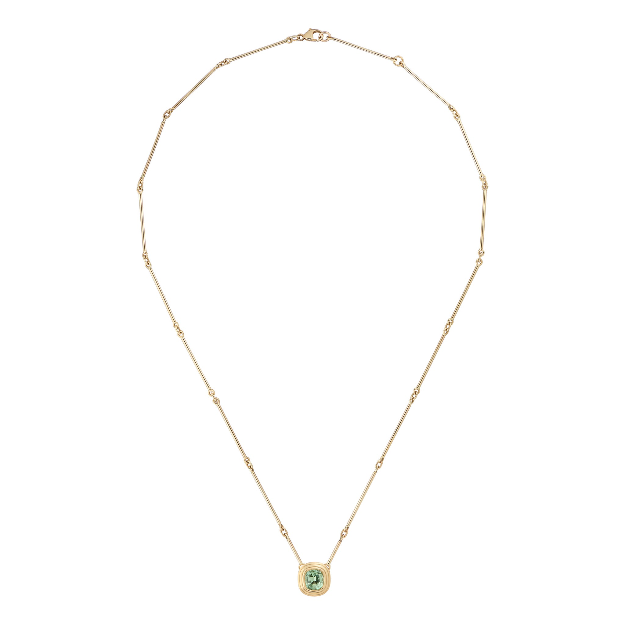Athena Green Tourmaline 18kt Gold Necklace