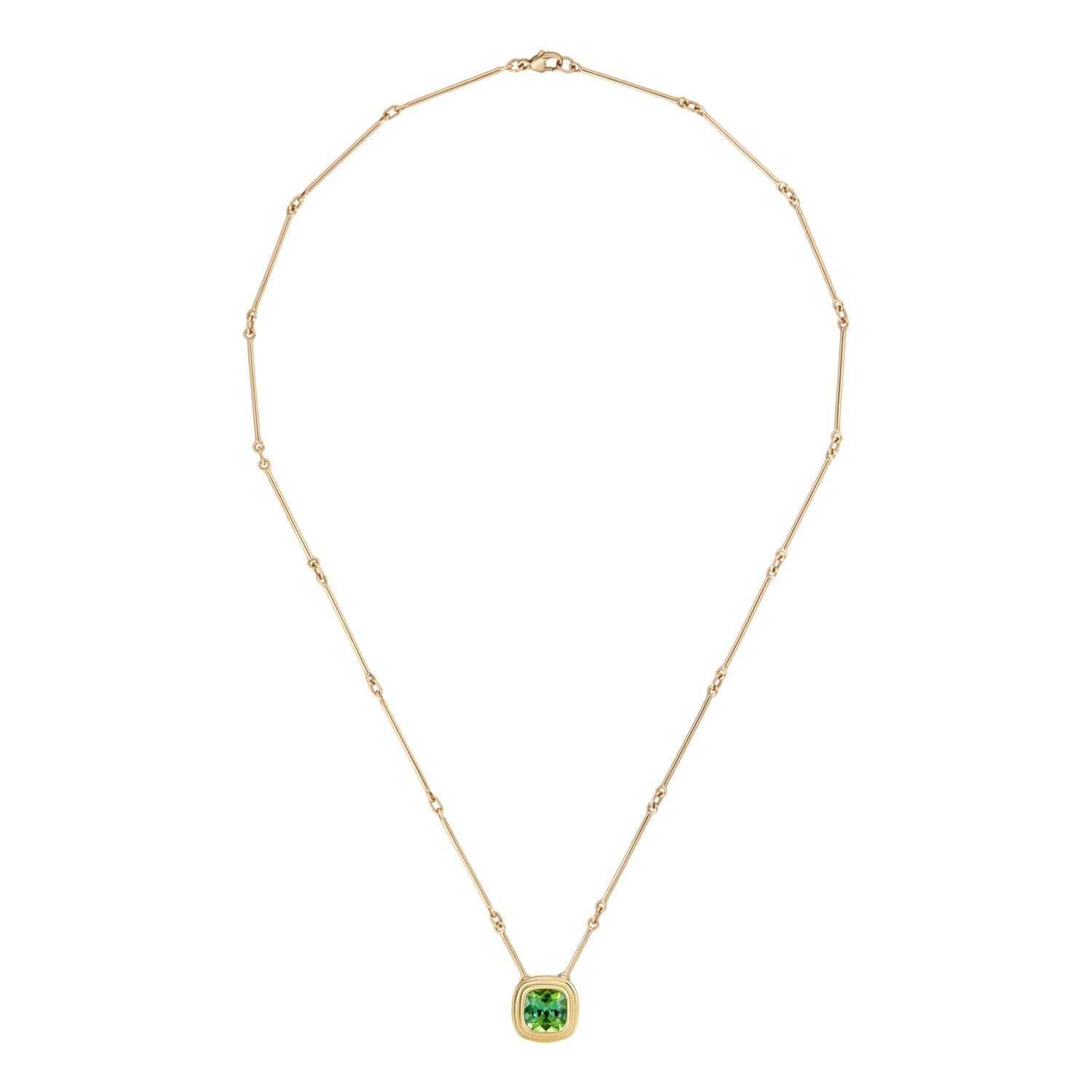 Athena: Vivid, Green Tourmaline Necklace