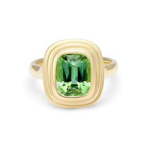 Athena: Medium Vivid Green Tourmaline Ring