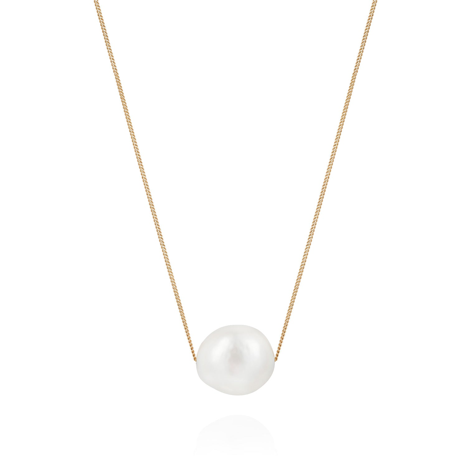 Mermaid: Small Floating Pearl Necklace