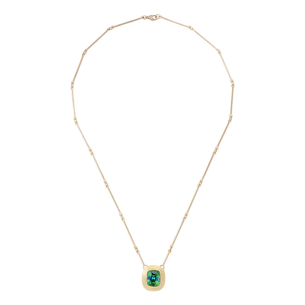 Athena: Vivid Green Tourmaline Necklace