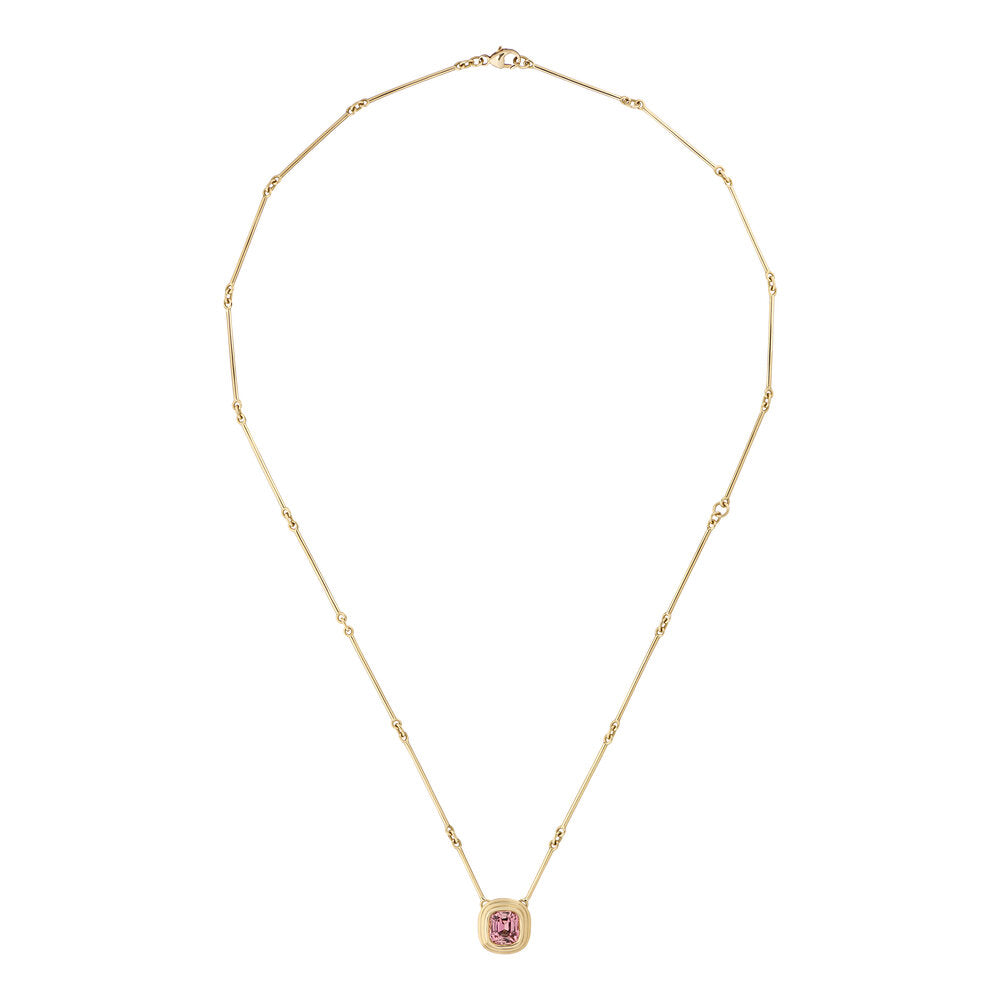 Athena: Pink Tourmaline Necklace