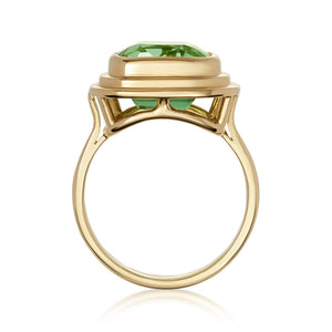 Minka Jewels - 18k yellow gold  5.70ct vivd green tourmaline ring18k yellow gold  5.70ct vivd green tourmaline ring