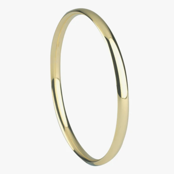 Mermaid: Plain Gold Bangle
