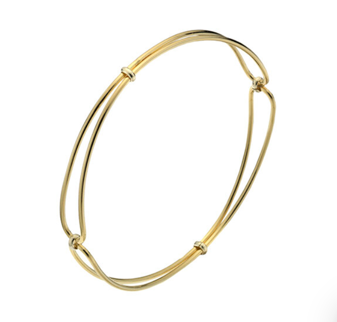 Mermaid: Golden Whisper Bangle