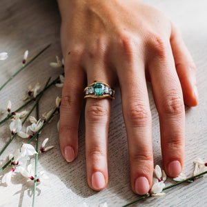 Mermaid: Green Tourmaline Ring