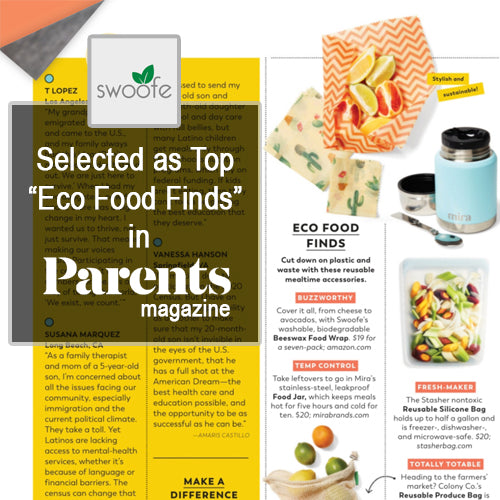 Swoofe Beeswax Wraps featured in Parents Magazine The Green Issue