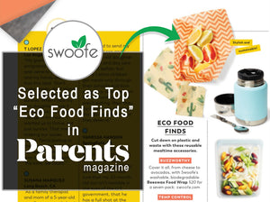 Swoofe Beeswax Wraps featured in Parents Magazine