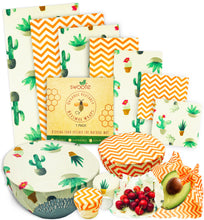 Load image into Gallery viewer, Sassy Succulents 7 Pack of Swoofe Reusable Beeswax Food Wraps