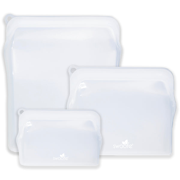 Silicone Storage Bags (3 Pack Bundle Set)