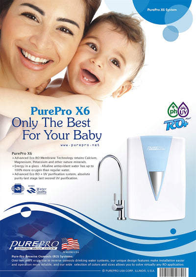 PurePro® USA Reverse Osmosis Water Filter System X6  (Blue)