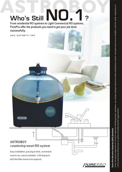 PurePro® USA Countertop RO Water Purification System Astroboy