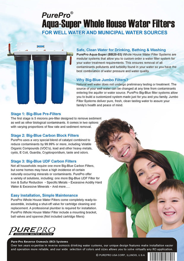 PurePro® USA Aqua-Super Whole House Water Filter System BB20-03