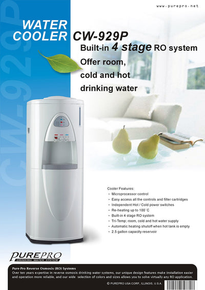 PurePro® USA Office RO Water Heater / Water Cooler  CW929P  (White)