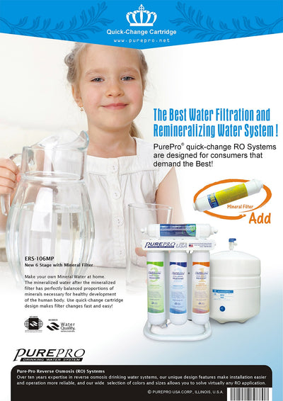 PurePro® USA Quick-Change Reverse Osmosis Water Filter System ERS-106MP