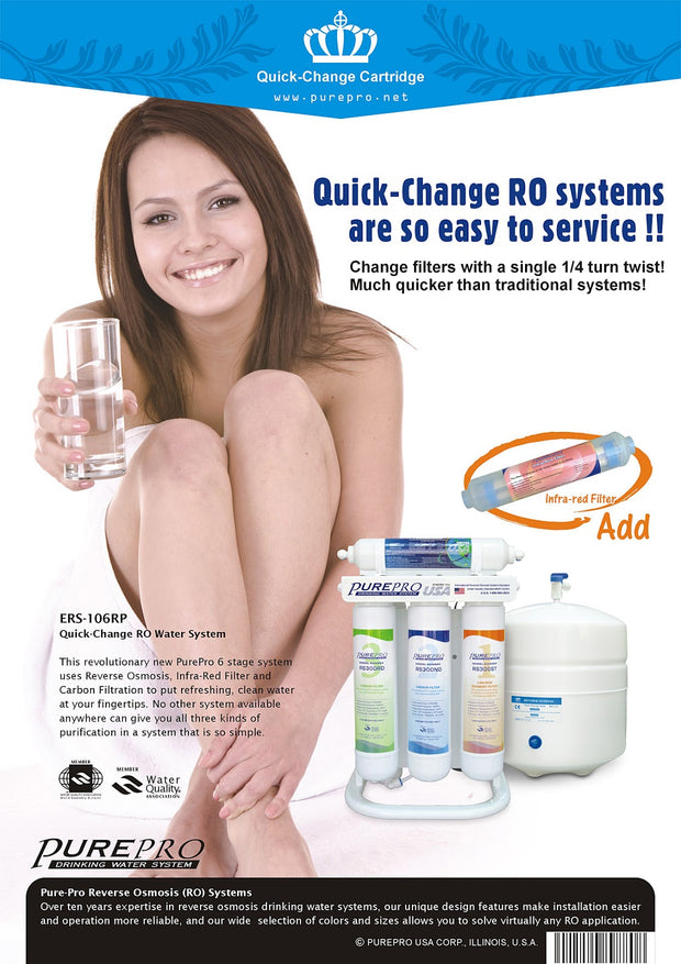 PurePro® USA Quick-Change Reverse Osmosis Water Filter System ERS-106RP