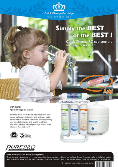 PurePro® USA Quick-Change Reverse Osmosis Water Filter System ERS-106R