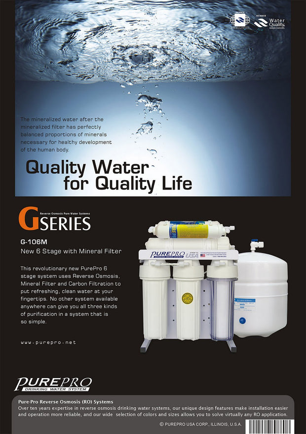 PurePro® USA Reverse Osmosis Water Filtration System G106M